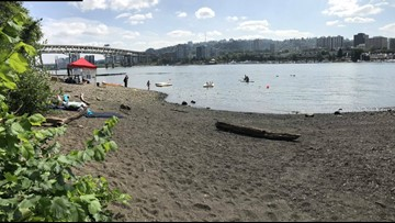 Audrey McCall Beach opens on east bank of Willamette River, marking Portland's second public beach