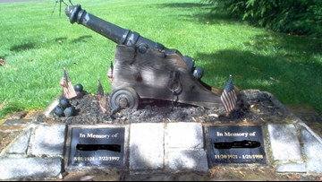 Veteran's memorial cannon stolen from Salem yard