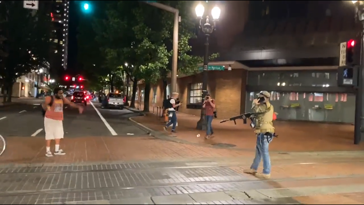 Portland man seen pointing realistic AR-15 style airsoft gun in downtown arrested