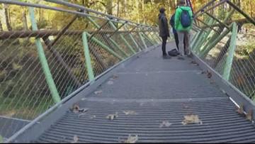 New bridge over West Burnside gives hikers a safer crossing