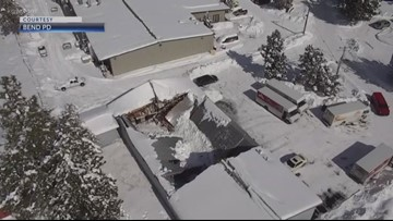 Snow collapses roofs in Willamette Valley, Central Oregon