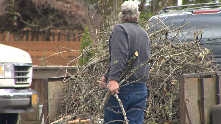 Tualatin opens 3 free drop-off sites for winter storm debris