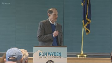 Oregonians weigh in on impeachment trial at Sen. Ron Wyden town hall