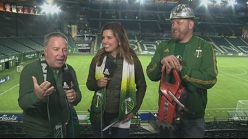Rod and Nina at Providence Park: Meet Timber Joey