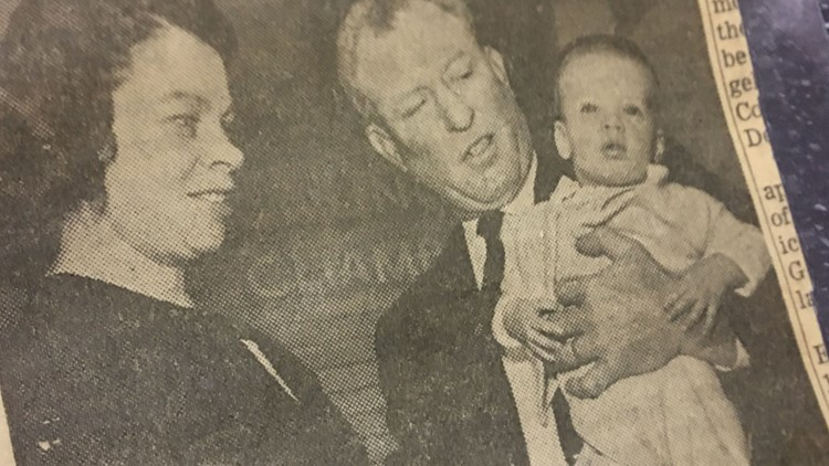 Newspaper clipping of Kevin Broadway's adoption