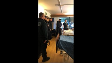 Keizer firefighters sing 'Happy Birthday' for woman on her 104th birthday