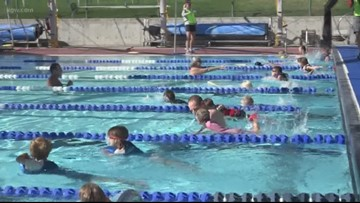 Kids compete in mini-triathlon in Bend