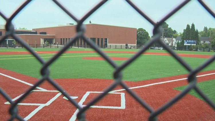 New baseball field at Grant High School in Portland