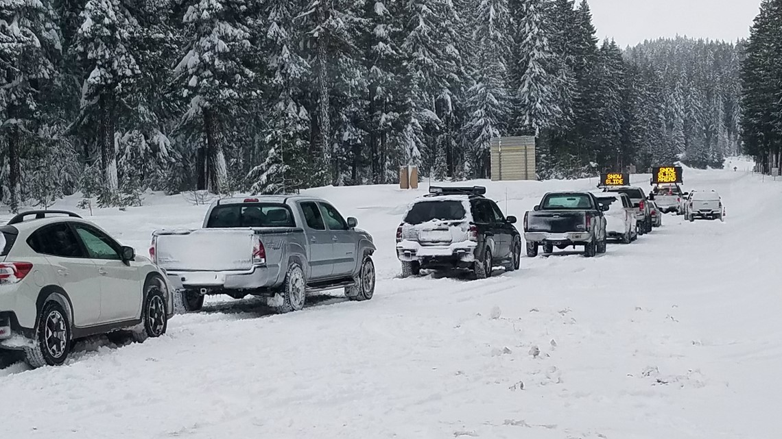 Highway 20 reopens following avalanche near Santiam Pass | kgw com