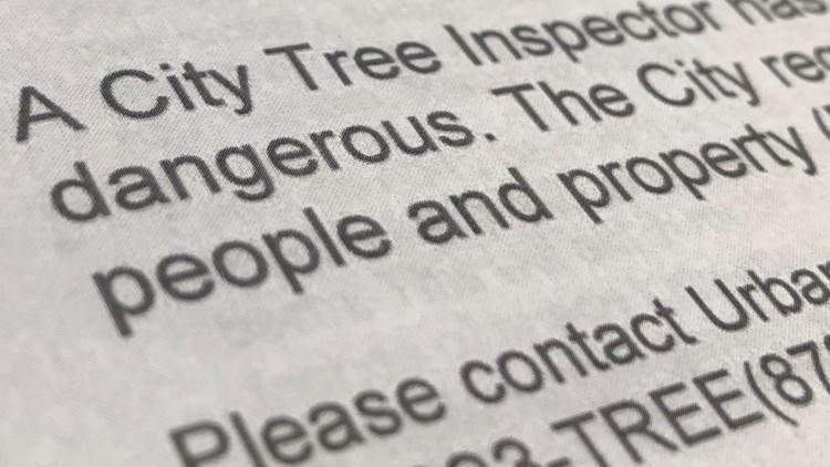 Tree Removal Public Posting