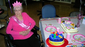 Wish come true: 'Cute' Keizer firefighters celebrate woman's 104th birthday