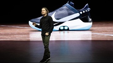 Nike unveils self-lacing basketball shoe