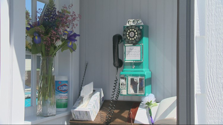 Grieving Battle Ground mother builds 'wind phone' booth in her front yard