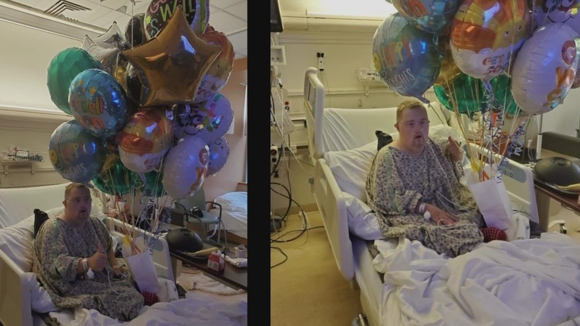 Balloons help Vancouver man with Down syndrome smile through COVID-19 recovery