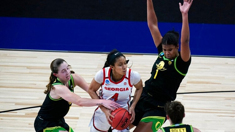 Oregon women top Georgia 57-50, return to Sweet 16 as 6 seed