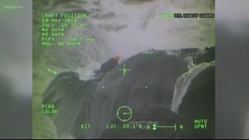 Coast Guard plucks stranded couple from rocks near Cannon Beach