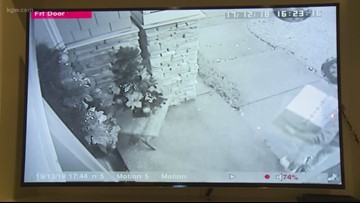 Security video shows what may be child stealing porch package in Lake Oswego