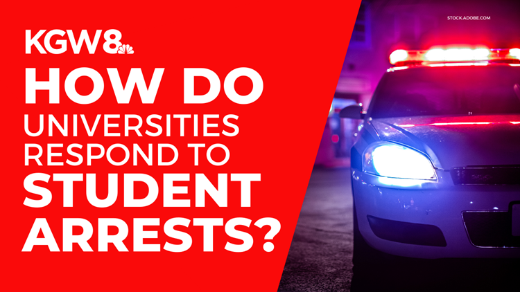 What happens when college students are arrested for off-campus, criminal behavior?