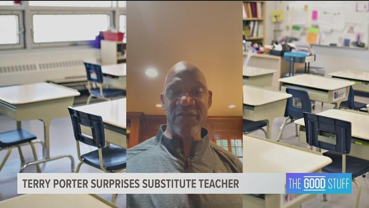 Blazers legend Terry Porter surprises Salem teacher with video shout-out