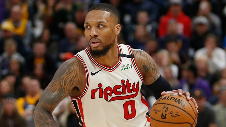 Damian Lillard is waiting for the NBA to start up again, while enjoying time at home with Dame Jr.