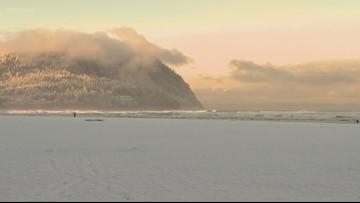 Snow hits the coast and Coast Range