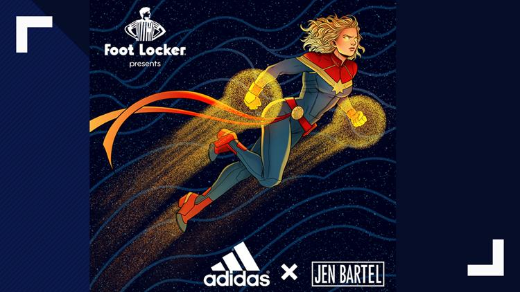 Captain Marvel adidas from Jen Bartel