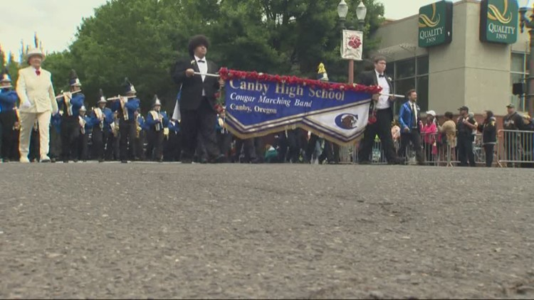 The beat goes on: Canby High School marching band gets second chance to perform at Grand Floral Parade