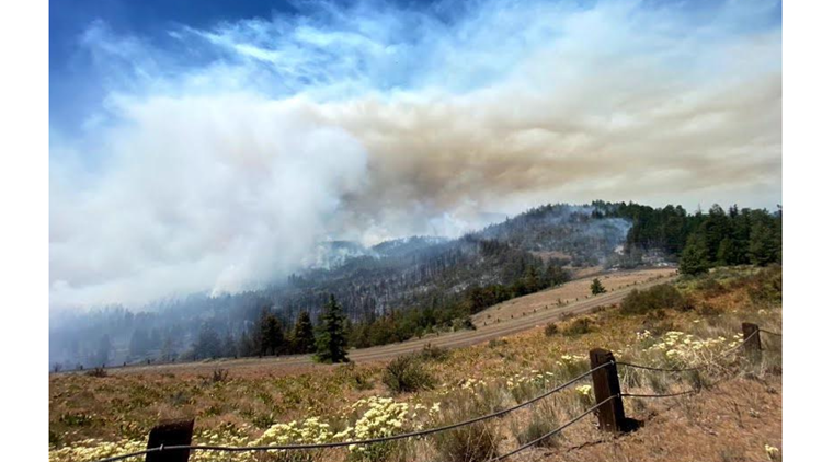 Wildfire burning thousands of acres southeast of Mt. Hood; may push smoke into Portland metro
