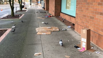After failing to open promised shelter beds, Salem cleans sidewalks crowded by homeless