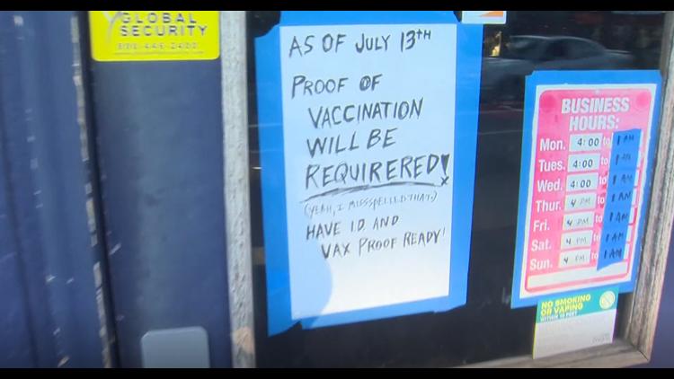 Portland bar requires customers to show proof of vaccination at door