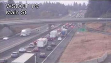 Three people injured in crash on I-5 at SR 500