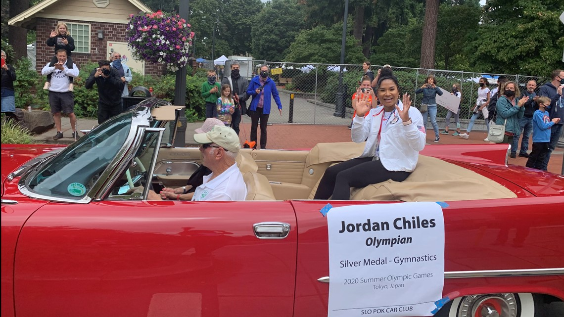 Vancouver hosts homecoming parade to honor Olympic silver-medal gymnast Jordan Chiles