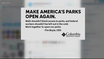 Columbia Sportswear: 'Make America's parks open again'