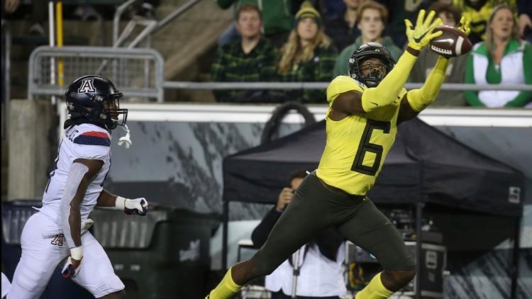 No. 6 Oregon downs Arizona 34-6 for 9th straight win