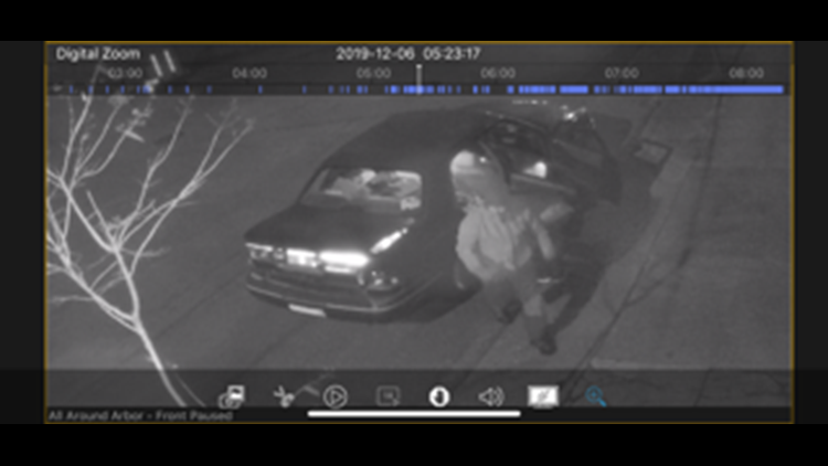 Security Cameras catch a glimpse of thieves outside SMART Collective