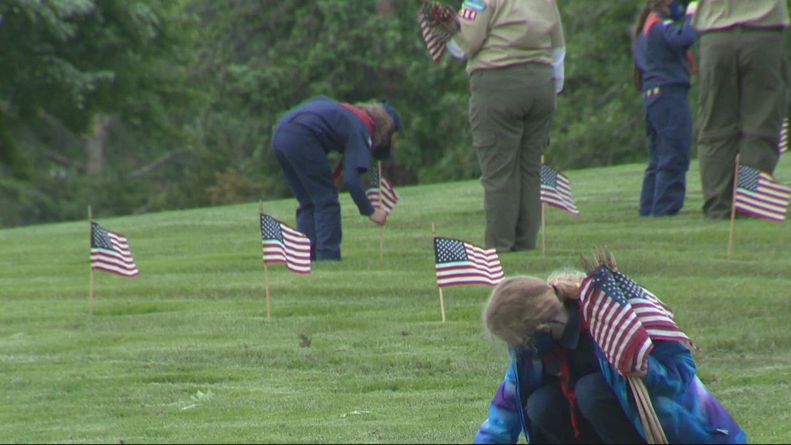 Scouts carry on Memorial Day tradition at Willamette National Ceremony