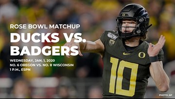 No. 6 Oregon to face No. 8 Wisconsin in Rose Bowl