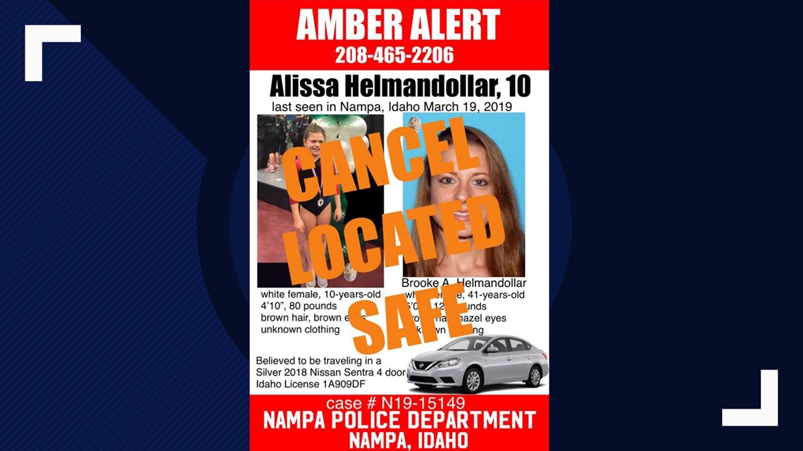 Amber Alert canceled, missing Idaho girl found safe
