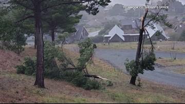Tornado damages homes in Manzanita