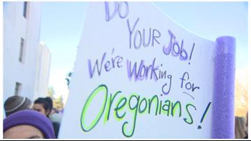 Demonstrators at Salem rally demand that GOP lawmakers return to work