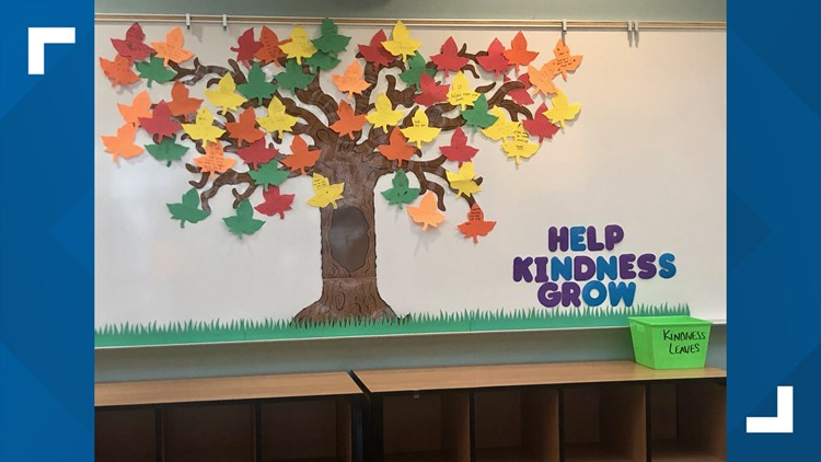 Teachers in Ridgefield create 'kindness tree' for students to showcase good deeds