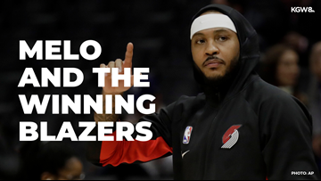 Carmelo Anthony and the winning Blazers