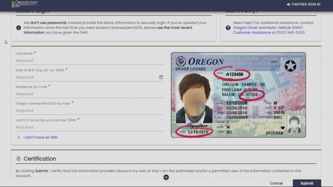 Oregon drivers can now renew license online