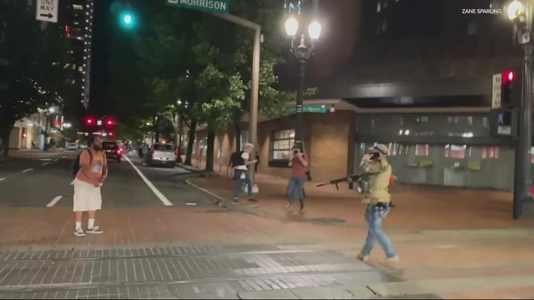 Portland police say they were busy with other calls during downtown clash