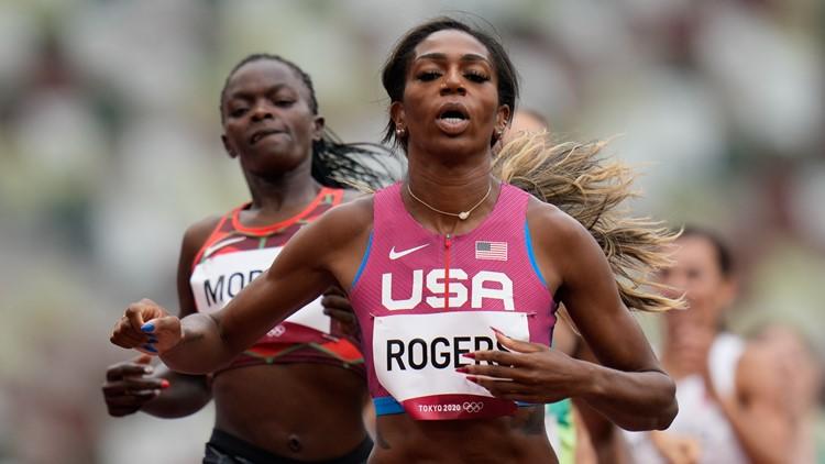 Former Oregon Duck Raevyn Rogers qualifies for 800-meter final in Tokyo