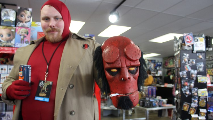 Celebrating Hellboy Day at Things From Another World in Portland
