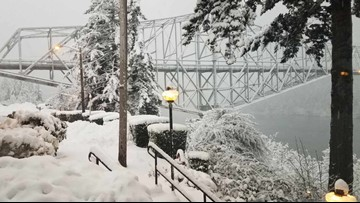 Weather update: Potential for snow, ice ends in Portland