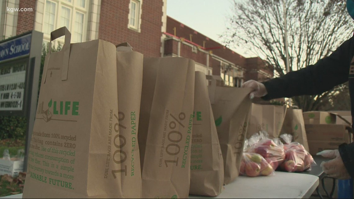 Woodlawn Elementary offers food bank to families