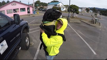 Oregon man to ride bike across US to raise money for training service dogs