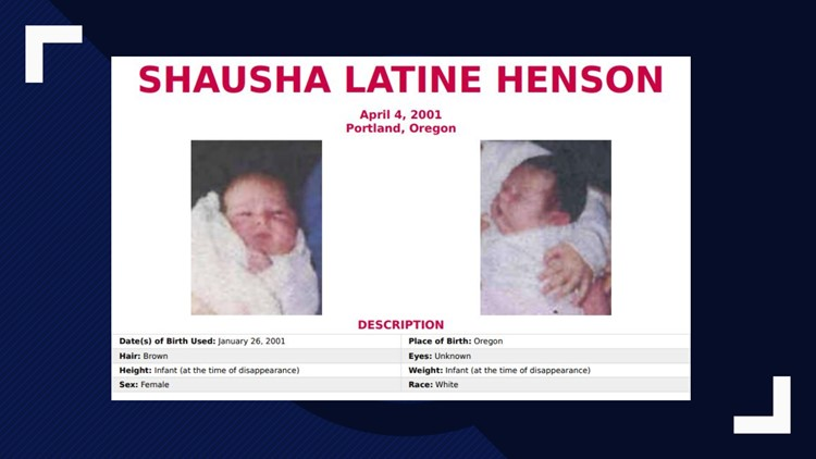 Shausha Latine Henson disappeared on April 4, 2001